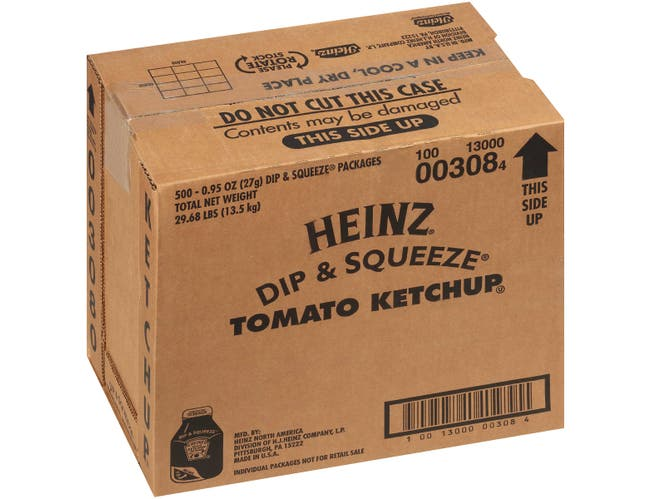 Heinz Dip and Squeeze Tomato Ketchup, 0.96 Ounce -- 500 per case.