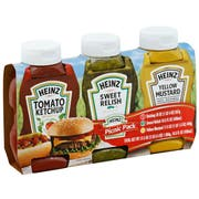 Heinz Picnic Pack Ketchup Relish and Mustard, 3.375 Pound -- 4 per case.