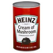 Heinz Condensed Cream of Mushroom Soup - 49.5 oz. can, 12 per case