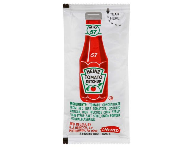 Ketchup Single Serve Packets 1000 Case 11 Gram