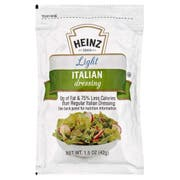 Heinz Single Serve Light Italian Salad Dressing, 1.5 ounce -- 60 per case
