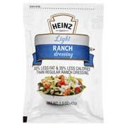 Heinz Light Ranch Dressing, 1.5 Ounce -- 60 per case.