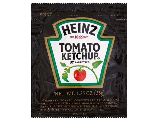 Ketchup Tomato, Single Serve Pouch,  1.25 Ounce -- 100 Case