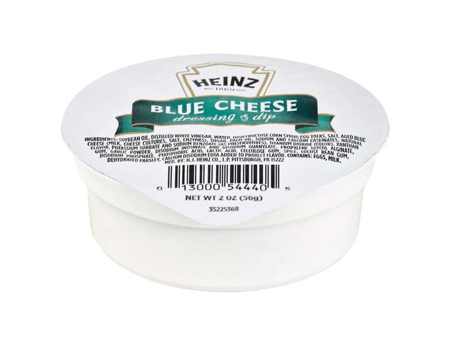Heinz Blue Cheese Salad Dressing, 2 Ounce -- 60 per case.