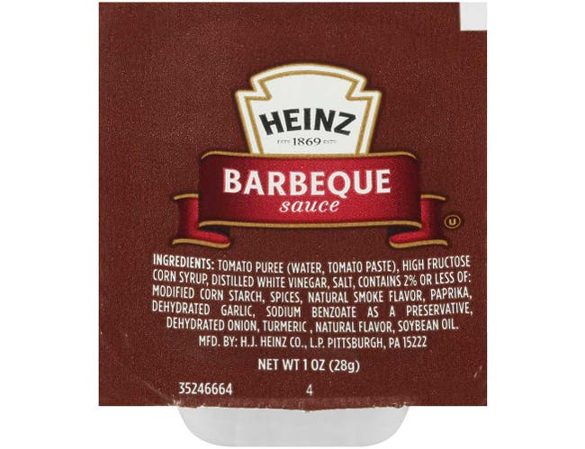 Dunk Cup Barbecue Sauce 100 Case 1 Ounce