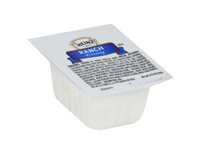 Dunk Cup Ranch Dressing 100 Case .75 Ounce