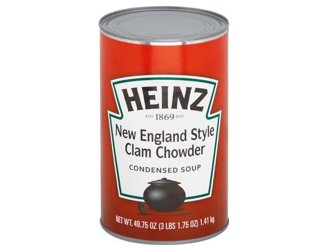 Heinz New England Clam Chowder Soup, 49.75 Ounce -- 12 per case.