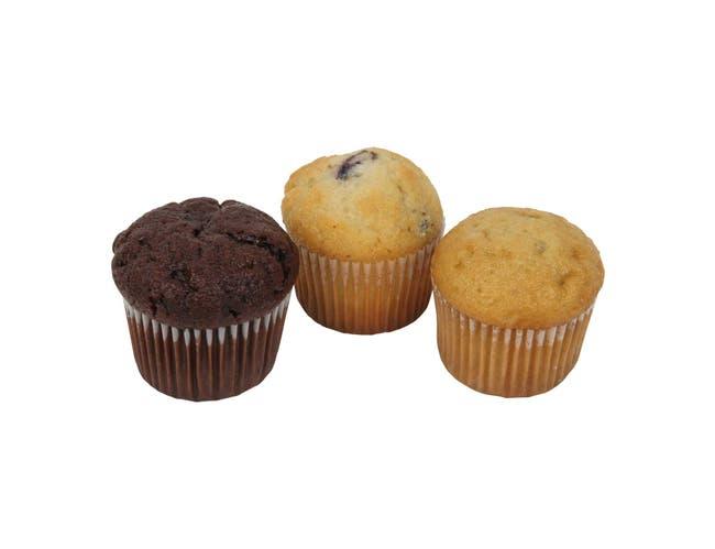 Otis Spunkmeyer Delicious Essentials Variety Mini Muffin, 0.9 Ounce -- 162 per case.