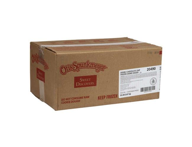 Otis Spunkmeyer Double Chocolate Cookie Dough - Bulk Bag, 1.33 Ounce -- 241 per case.