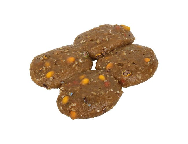 Otis Spunkmeyer Carnival Multi Colored Candy Coated Semi Sweet Chocolate Gem Cookie Dough, 1.85 Ounce -- 180 per case.