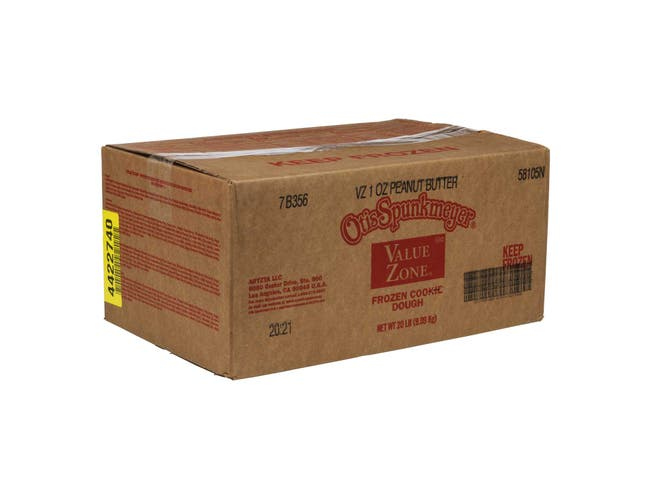 Otis Spunkmeyer Value Zone Peanut Butter Cookies Dough, 1 Ounce -- 320 per case.