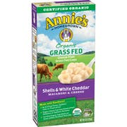 Annies Organic Grass Fed Shells and White Cheddar Macaroni and Cheese, 6 Ounce -- 12 per case.