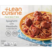 Nestle Stouffers Lean Cuisine One Dish Favorites Spaghetti with Meatball and Sauce - Entree, 9.5 Ounce -- 12 per case.