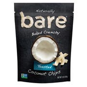 Bare Natural Simply Toasted Coconut Chips, 3.3 Ounce -- 12 per case.