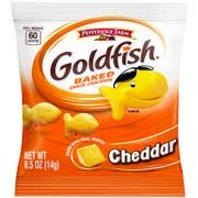 Pepperidge Farms Cheddar Goldfish - 0.5 oz. single serve pouch, 100 per case