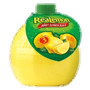 Retail Realemon Squeeze Bottle Juice 24 Case 4.5 Ounce