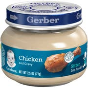 Gerber 2nd Foods Chicken Plus Gravy Puree, 2.5 Ounce -- 12 per case.