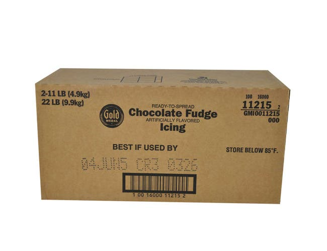 Gold Medal Chocolate Fudge Ready To Serve Icing, 11 lbs -- 2 per case