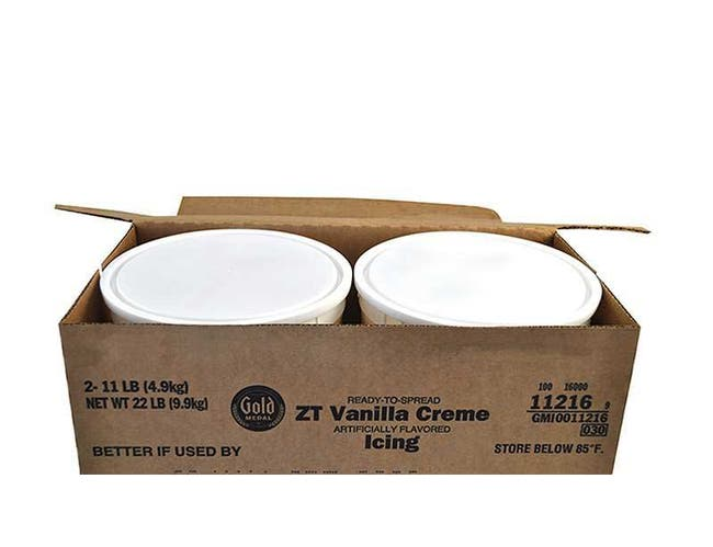 Gold Medal Vanilla Creme Ready To Serve Icing, 11 lbs -- 2 per Case