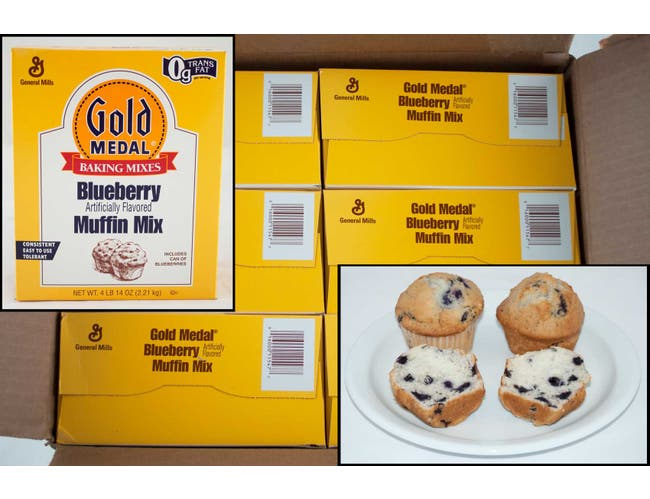 Gold Medal Blueberry Muffin Mix, 4.87 Pound -- 6 per case