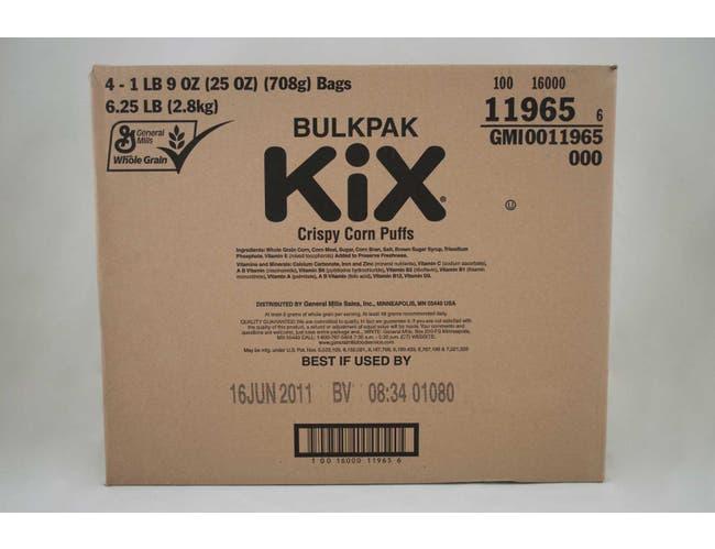 Bulk Pak Kix Cereal 4 Case 25 Ounce