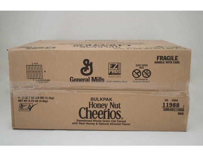 Bulk Pak Honey Nut Cheerios Cereal 4 Case 39 Ounce
