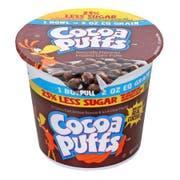 Cocoa Puffs 25 Percent Less Sugar Single Serve Cereal, 2 ounce -- 60 per case