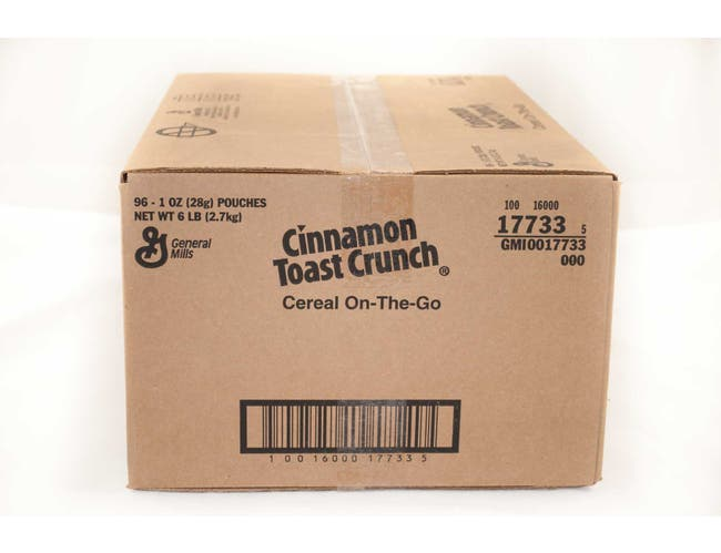 General Mills On The Go Cinnamon Toast Crunch Cereal, 1 Ounce -- 96 per case.