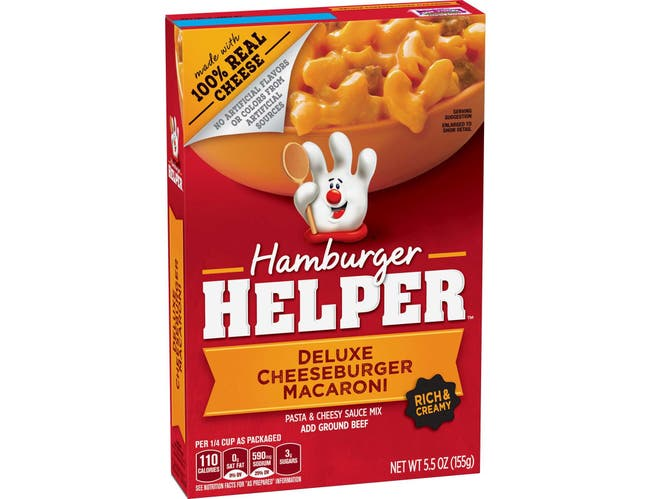 Hamburger Helper Deluxe Cheeseburger Macaroni, 5.5 Ounce -- 12 per case.