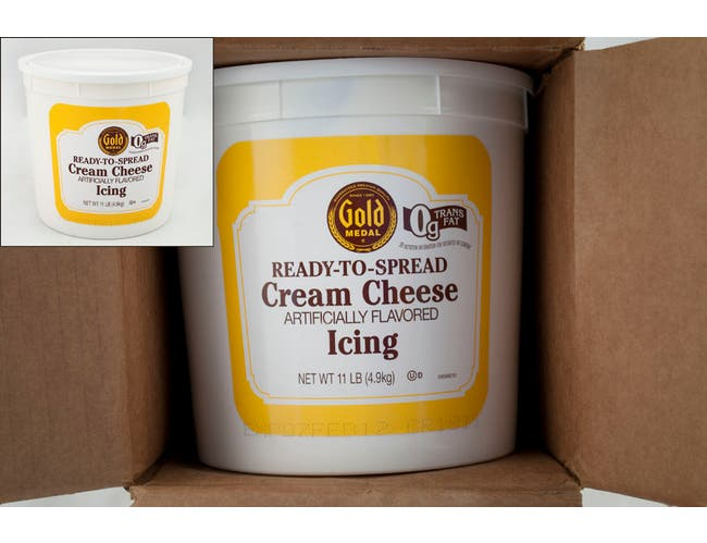 General Mills Gold Medal Ready To Spread Cheese Cream Icing, 11 Pound -- 2 per case.