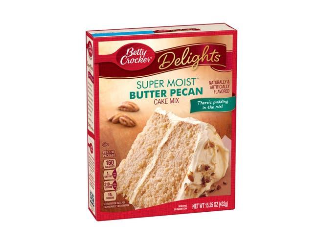 Betty Crocker Supermoist Butter Pecan Cake Mix, 15.25 Ounce -- 12 per case.