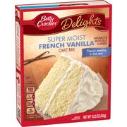Betty Crocker Supermoist French Vanilla Cake Mix, 15.25 Ounce -- 12 per case.