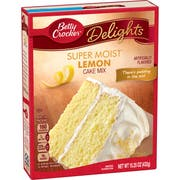 Betty Crocker Supermoist Lemon Cake Mix, 15.25 Ounce -- 12 per case.