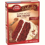 Betty Crocker Super Moist Red Velvet Cake Mix, 15.25 Ounce -- 12 per case.