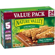Nature Valley Crunchy Oats N Honey Granola Bar, 12 count per pack -- 6 per case.
