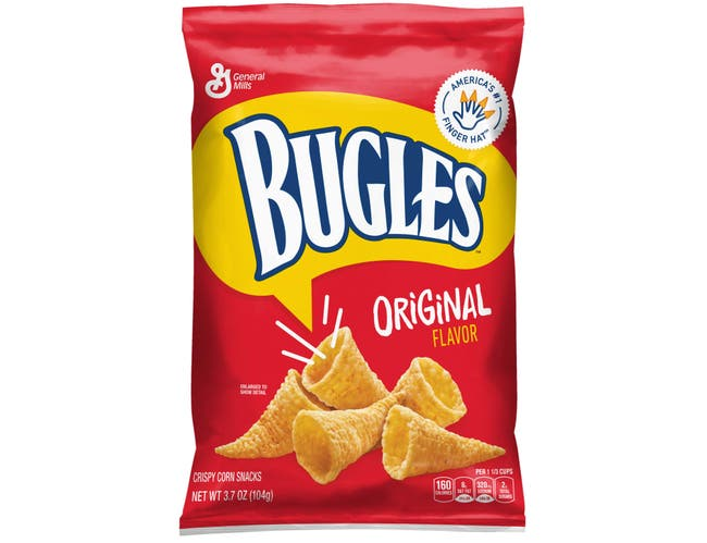 Bugles Original Corn Snacks, 3.7 Ounce -- 12 per case.