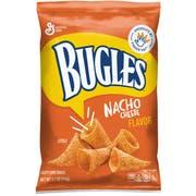 Bugles Nacho Cheese Corn Snacks, 3.7 Ounce -- 12 per case.