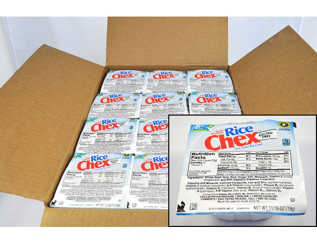 General Mills Rice Chex Cereal, 0.68 Ounce -- 96 per case.