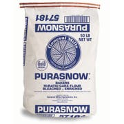 General Mills Purasnow Bleached Enriched Wheat Flour, 50 Pound -- 1 each.