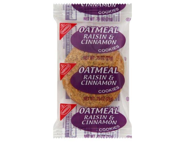 Oatmeal Raisins Cinnamon Cookies 100 Case 2 Count