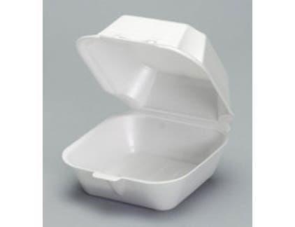 Genpak Large Foam Hinged Sandwich Container -- 500 per case.