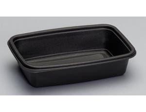 Genpak Smart Set Pro Polypropylene Black Rectangular Microwave Safe Container, 32 Ounce -- 300 per case.