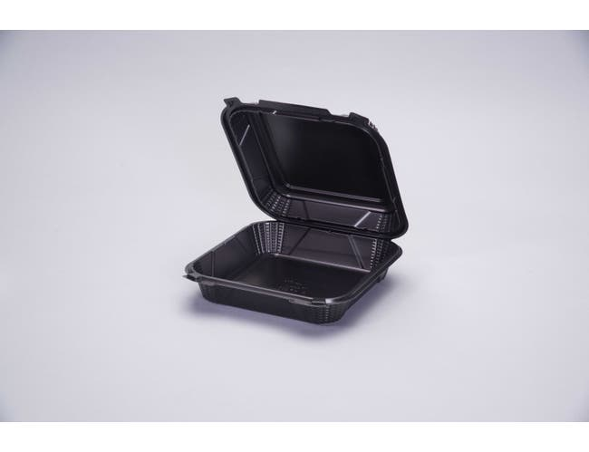 Genpak 1 Compartment Hinged Container, 9 inch -- 150 per case.