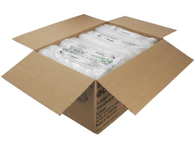 Genpak Clear Large Hinged Sandwich Container -- 400 per case