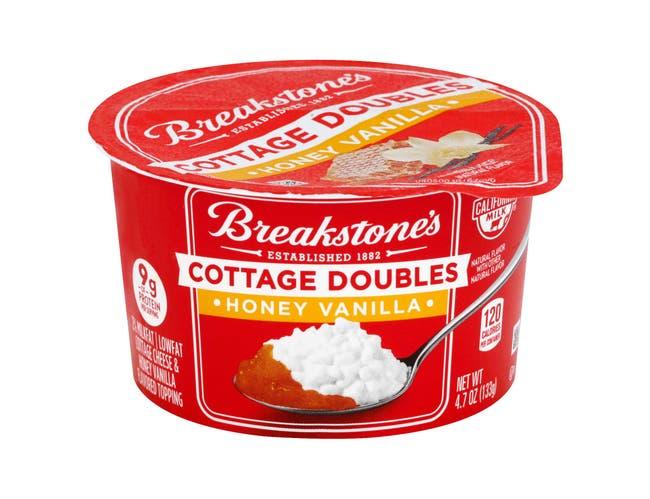 Breakstones Cottage Doubles Honey Vanilla Cottage Cheese, 4.7 Ounce -- 12 per case.