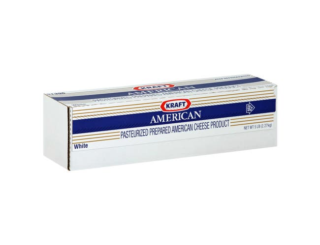 Kraft American White Cheese Loaf, 80 Ounce -- 6 per case.