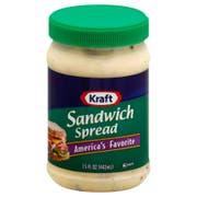 Kraft Spoonable Sandwich Spread, 15 Ounce -- 12 per case.
