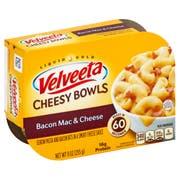 Velveeta Macaroni and Cheese Dinner Bacon Bowl, 9 Ounce -- 6 per case.