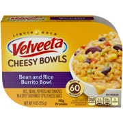 Velveeta Bean and Rice Veggie Burrito Cheesy Bowl, 9 Ounce -- 6 per case.
