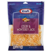 Kraft Zip Pak Shredded Colby and Monterey Jack Cheese, 8 Ounce -- 12 per case.